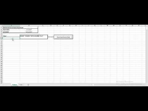 Excel Macro pull historical stock market data | VBA Market