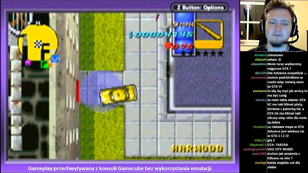 Grand Theft Auto Advance (GBA) - stream z konsoli Gamecube