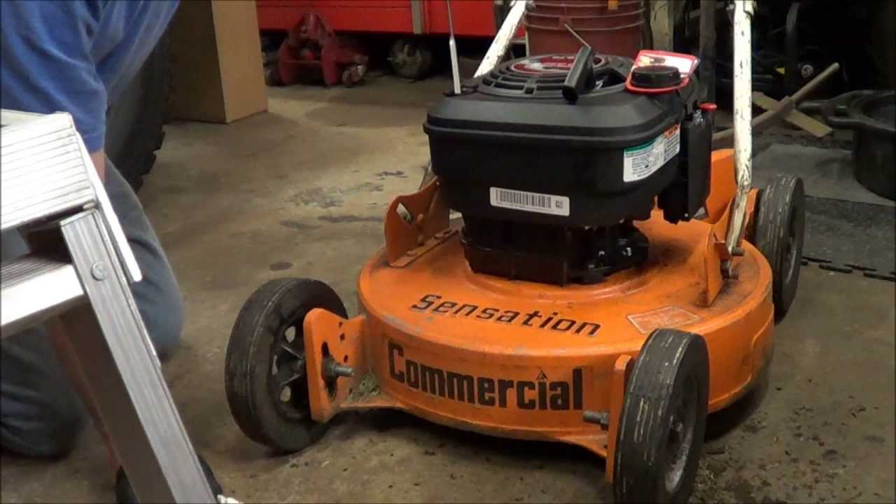 Repowering A Sensation Commercial Mower Youtube