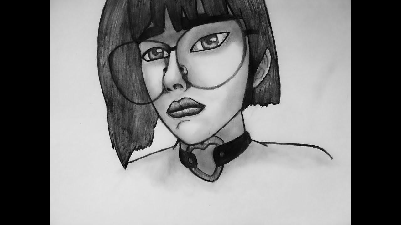 Cómo dibujar la cara de una mujer fácil paso a paso
