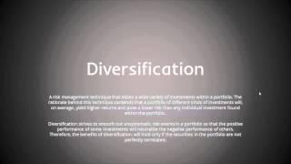 Investment Principles: Diversification