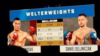 Kiefer Crosbie vs Daniel Olejniczak Bellator 217 Full Fight