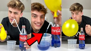 This balloon trick will SHOCK your friends! 😱 - #Shorts