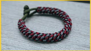 👑 Crown Knot Paracord Bracelet With Toggle Knot Clasp | No Buckles TUTORIAL