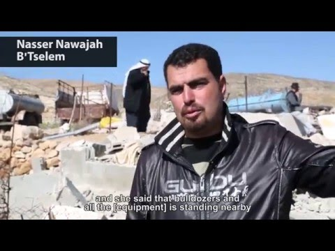 Demolition on firingzone 918, South Hebron Hills 3.2.2016