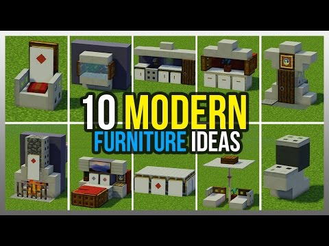 ✔️ 10 Modern Furniture Ideas! (Minecraft)