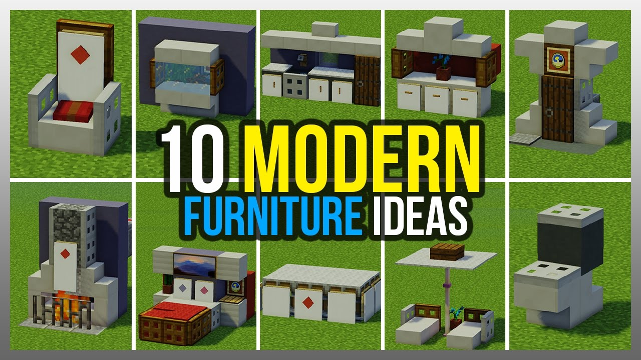 Ufe0f 10 Modern Furniture Ideas   Minecraft