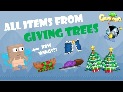 Growtopia All Items From Giving Trees Youtube