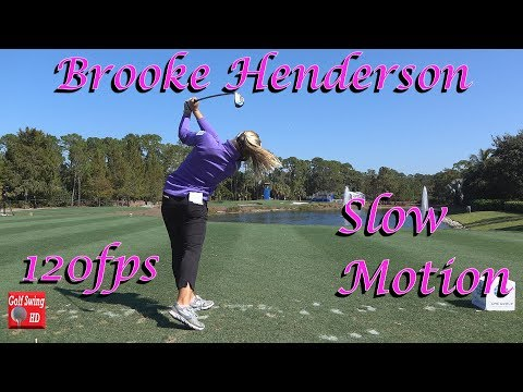 BROOKE HENDERSON 120fps DTL PAR 3 TEE SHOT GOLF SWING
