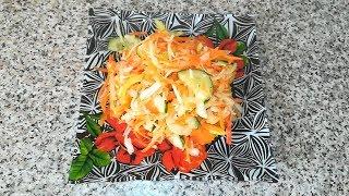 Осенний салат Витаминный  RAW  VEGAN