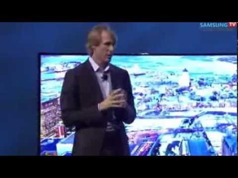 SHOCKING Michael Bay INSULTED at CES 2014 During Samsung's Bendable TV Show Off, MUST WATCH !!