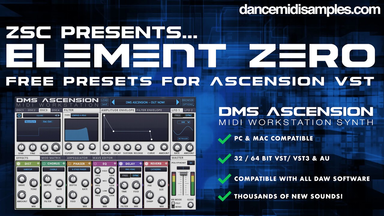 DMS Ascension  VST - Free Presets From ZSC