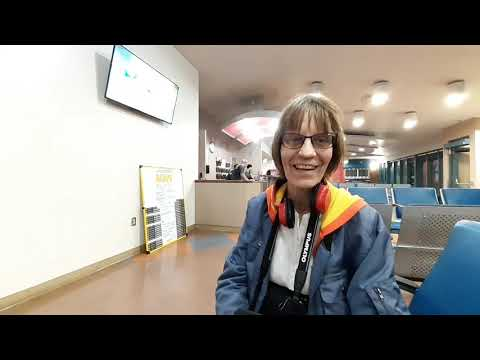 TRAVELING: Going  to Vancouver by midnight train VIA TRAIN STATION EDMONTON Canada