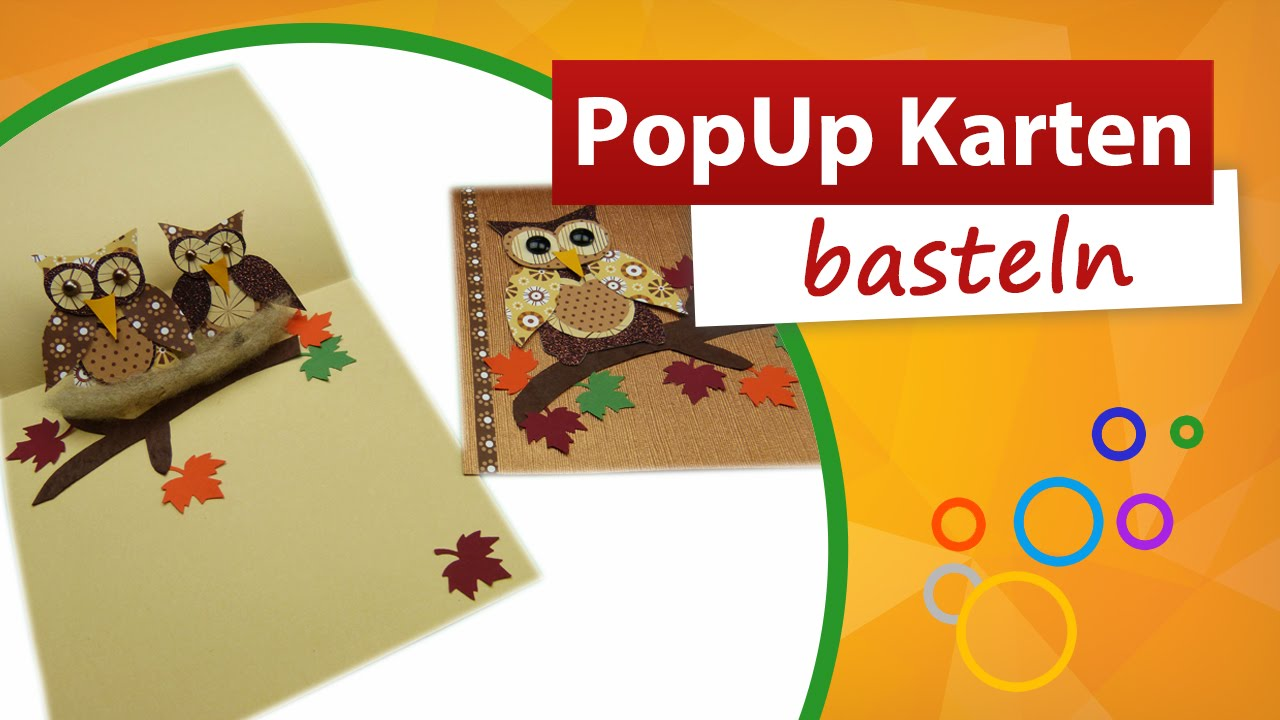 Pop Up Karte Basteln Eulen Karte Trendmarkt24 Youtube