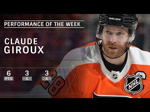 Claude Giroux leads Flyers to winning week with three goals, three assists