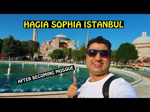 Hagia Sophia After Becoming Mosque in Istanbul (Turkey)