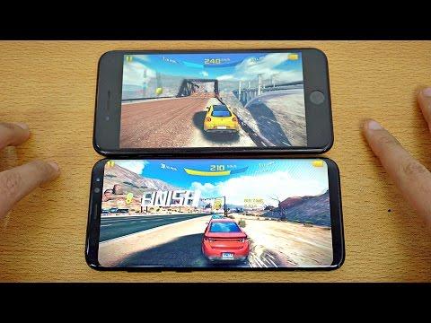 Samsung Galaxy S8 Plus vs iPhone 7 Plus - Gaming Comparison! (4K)