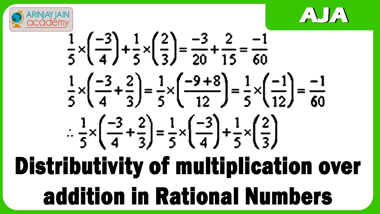 6 D Distributivity Of Multiplication Over Addition In Rational