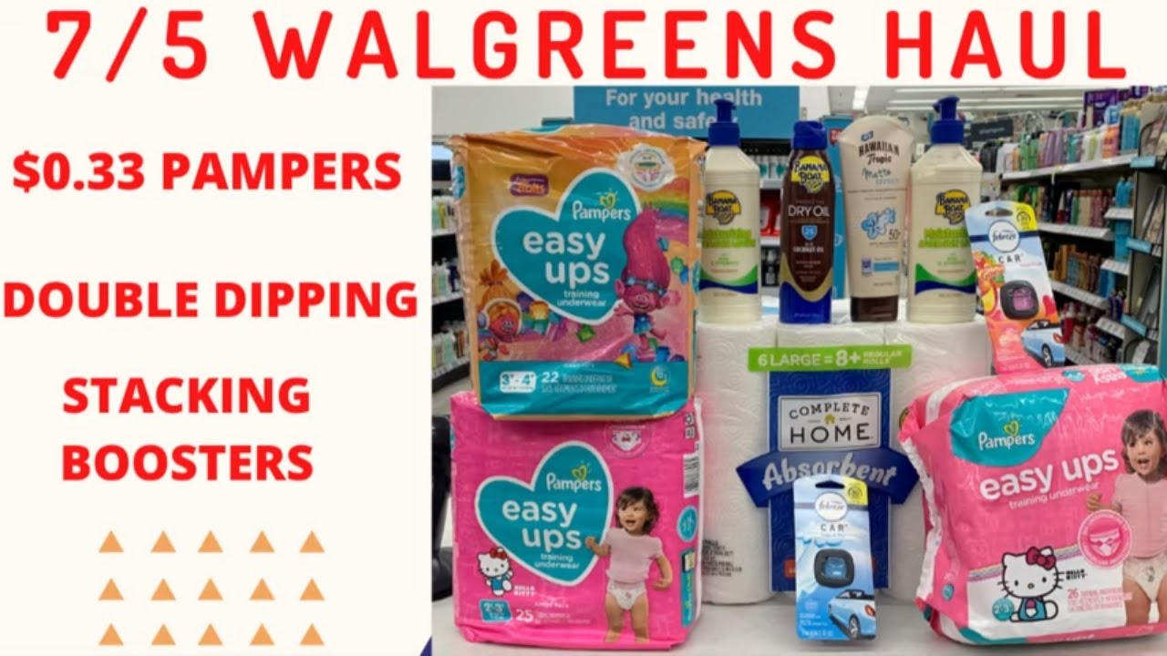 🤑$0.33 PAMPERS + Walgreens HAUL 7/5 + Walgreens All Digital Couponing + Walgreens Scenarios 7/5 😜