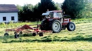 Tracteur Fiat 90-90 dt et double andaineur Niemeyer rs 620 xl