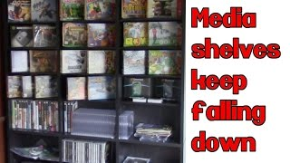 My New Media shelves need HELP!! Altantic Oskar 1080 Media Storage Unit