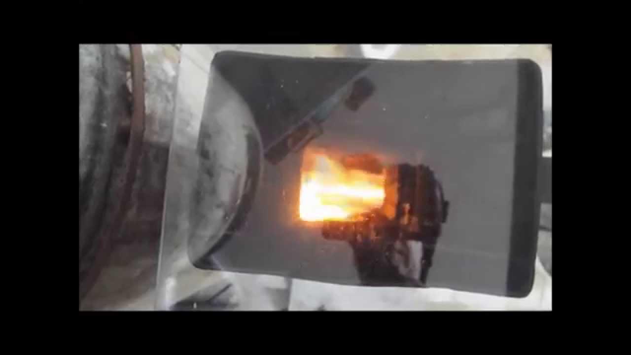 rocket stove pellet burner final test youtube