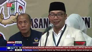 Ridwan Kamil-Uu dan Demiz-Demul Daftar ke KPU Jabar 97ded521be