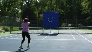 Rally-it™ On-court Tennis Target Backboard Demo