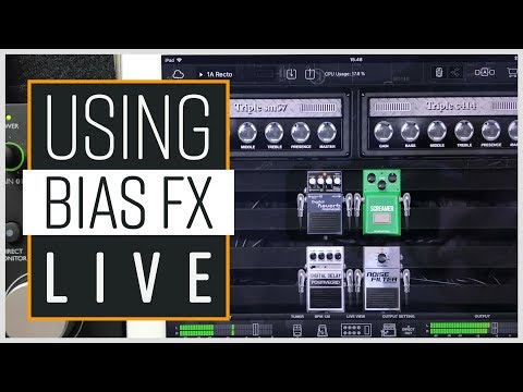 Using Bias FX Live - Hanging out with Taneli from the band KLS