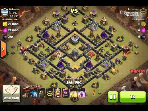 Quatro-Lavaloonion Th9 vs Th9 Clan War