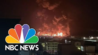 Four-alarm Warehouse Fire Breaks Out At San Francisco's Pier 45 | Nbc News
