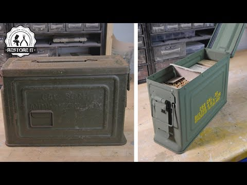 1942 US .30 Cal Carbine M1 Ammo Box Restoration
