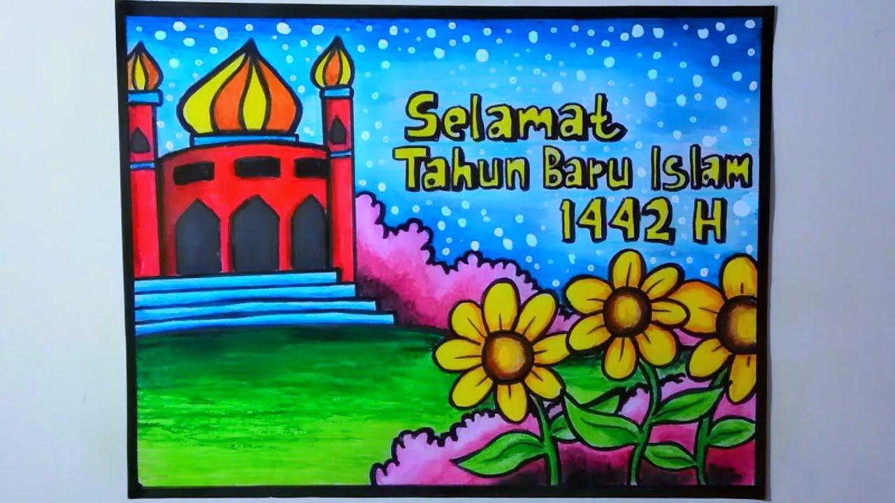 Membuat Poster Tahun Baru Islam Poster Tahun Baru Islam Youtube