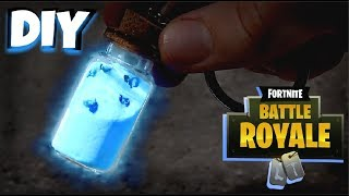 DIY Glowing Small Shield Potion Keychain Under $10 - Fortnite Battle Royale