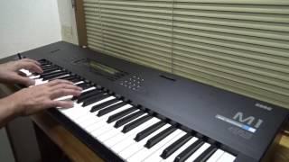 NHK 大河ドラマ「真田丸」のテーマ曲の頭と最後の部分を楽譜無し簡易記憶抜粋超簡略耳コピ演奏 KORG M1 ブラスとピアノのレイヤーで、エフェクターはアンサンブル ...