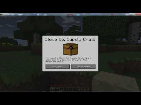 Minecraft Beta 14 Update Test Drive  Steve Co Supply Crate Locked Chest