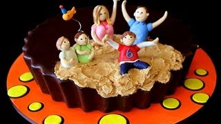 Peanut Butter Birthday Cup Cake