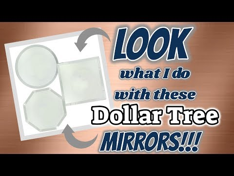 LOOK What I Do With These Dollar Tree MIRRORS!!!!! DOLLAR TREE DIY