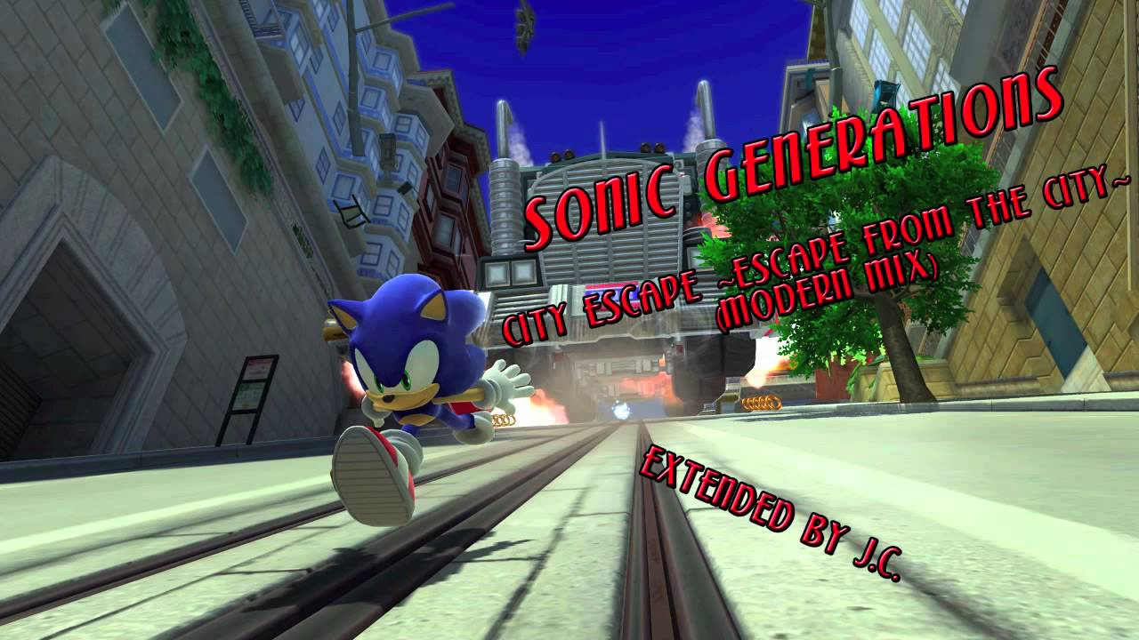 sonic generations city escape escape from the city