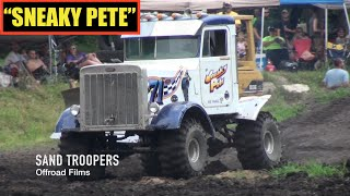 """SNEAKY PETE"" rolls at Perkins Mud Bog PETERBILT Truck"