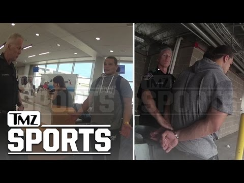 WWE's Bo Dallas Drunken Airport Arrest Video... Are Those Nunchucks?
