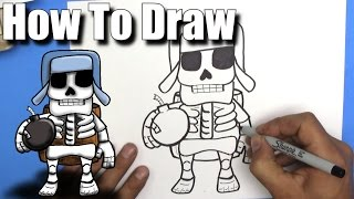 How To Draw a Giant Skeleton from Clash Royale - EASY Chibi - Step By Step - Kawaii(Step By Step Tutorial on how to draw a Giant Skeleton from Clash Royale chibi / kawaii. These guys are my favorite... when they explode they take out all the ..., 2016-09-16T20:00:00.000Z)