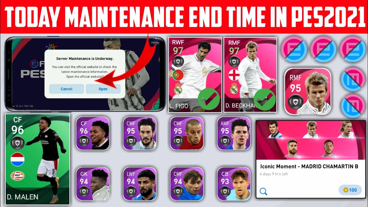 TODAY MAINTENANCE END TIME IN PES2021 | WHEN MAINTAINANCE WILL END IN PES2021