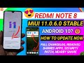 - OFFICIAL - REDMI NOTE 8 NEW UPDATE   HOW TO UPDATE REDMI NOTE 8 MIUI 11.0.6.0 STABLE UPDATE, MIUI 11