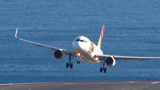 Traumatic Landings B757 A320 B737 || Bad Wind || Madeira