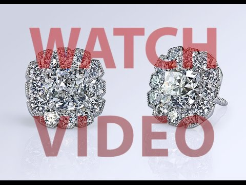 Dynasty Cut™ diamond studs by Leon Megé e5790