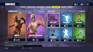 SUN TAN SPECIALIST AND VERTEX SKINS ARE BACK IN Fortnite Battle Royale