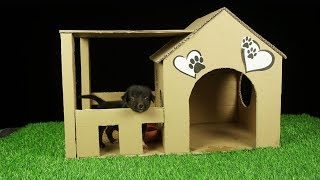 How to Make Amazing Puppy Dog House from Cardboard, Easy Crafts DIY