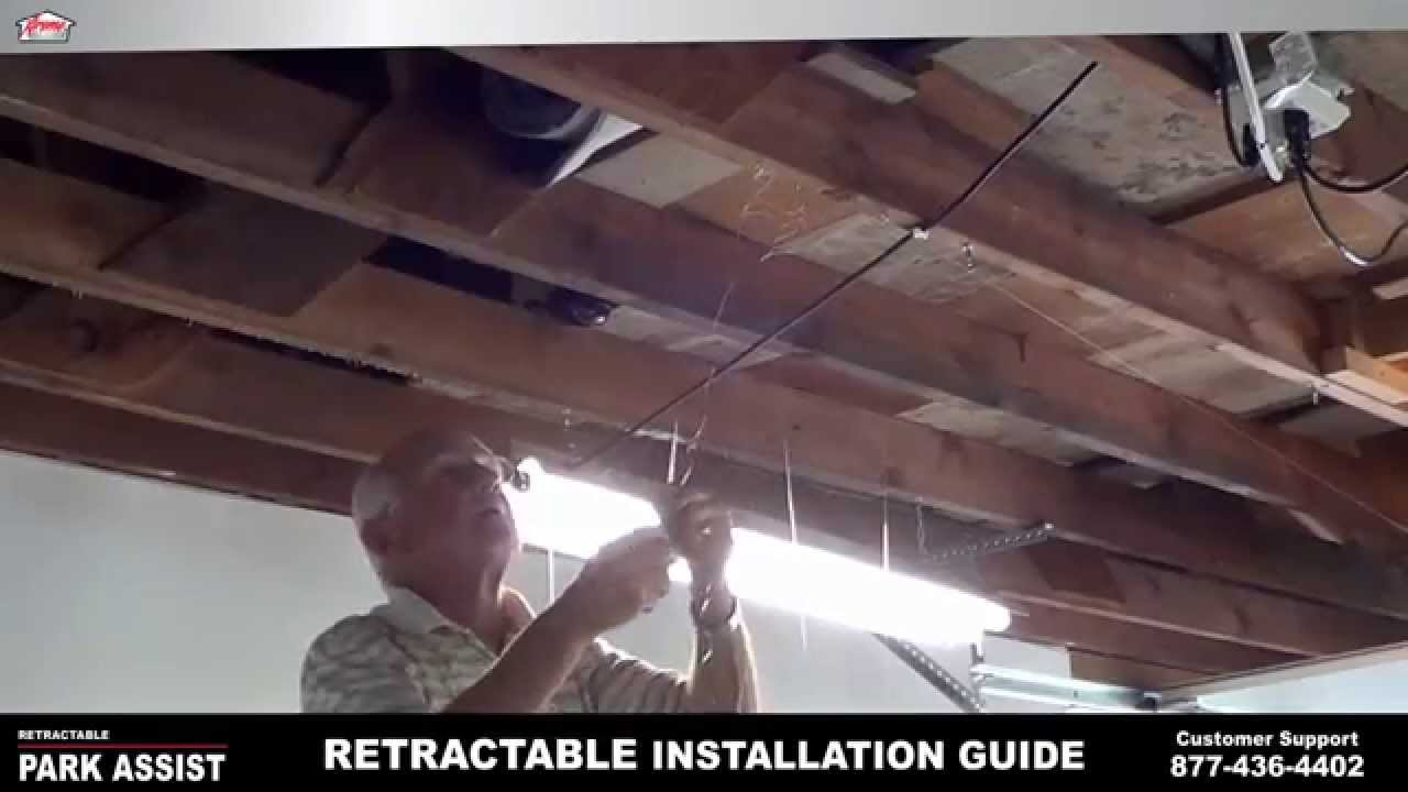 xtreme garage door openerXtreme Garage Park Assist  Retractable Installation Guide  YouTube