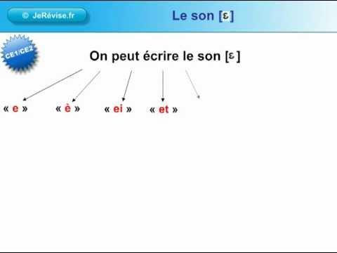 """Favori Le son phonème """"è"""" CE1 CE2 FLE soutien scolaire - YouTube XX17"""